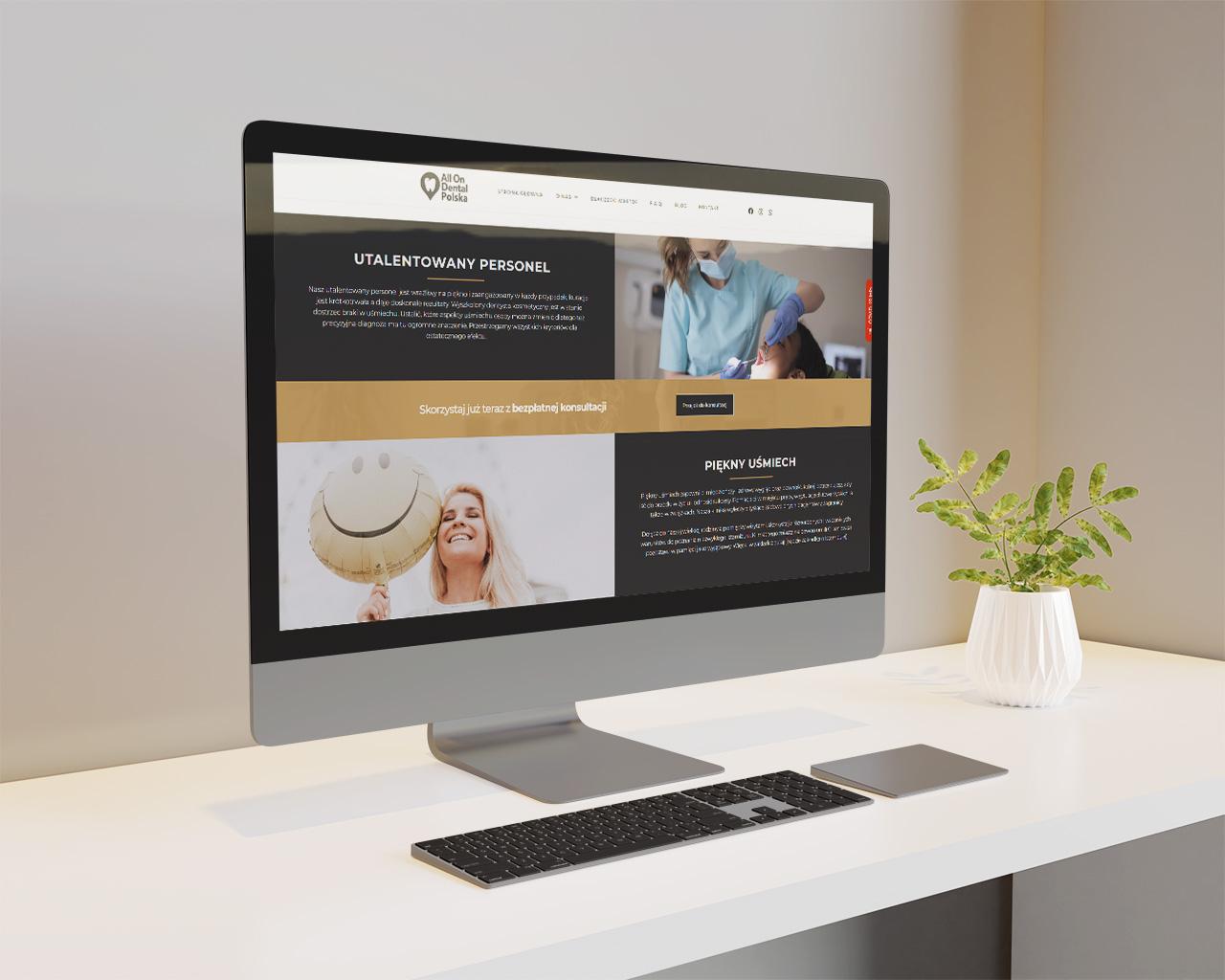 AllOnDental klinika strona utworzona przez css-create strony www stalowa wola