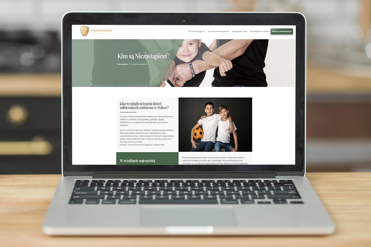 NiezastÄ…pieni - strona www Fundacji wykonana przez css-create.pl