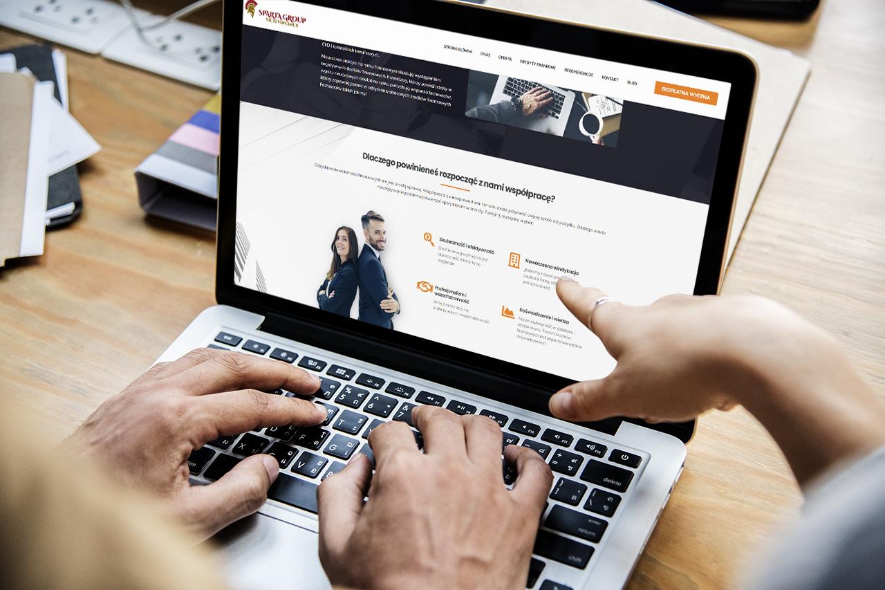 Sparta Group - Strona WWW wykonana dla biura doradczego przez css-create.pl